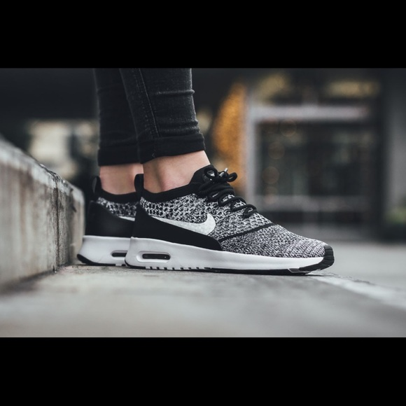 ef100cf50be4 Nike Air Max Thea Ultra Flyknit Black White